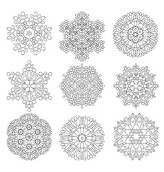 Geometrical flower set vector image