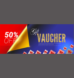 gift voucher premium design of certificate for vector image