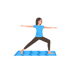 Girl yoga exercise vector