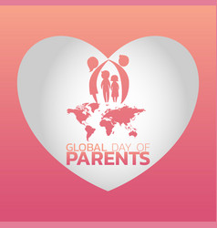 global day of parents logo icon design vector image