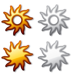 Golden and shaded sun vector