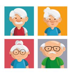 grandparents portrait design vector image