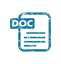 Grunge doc file icon vector