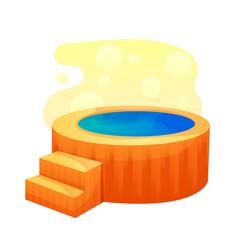 Hot bath tub flat isolated on vector