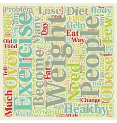 How To Lose Weight The Healthy Way text background vector image