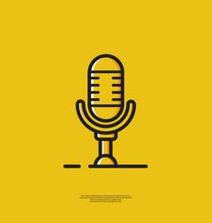Icon microphone vector