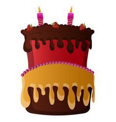 isolated birthday cake vector image