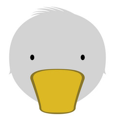 isolated cute duck avatar vector image