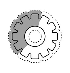 isolated gear piece vector image