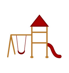 isolated playground equipment icon vector image