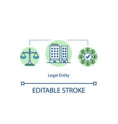legal entity concept icon vector image