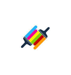 link paint logo icon design vector image