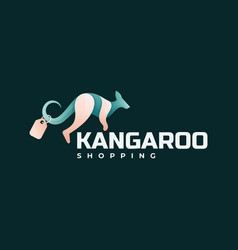 logo kangaroo gradient colorful style vector image