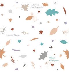 Lovely autumn leaves seamless pattern in light vector