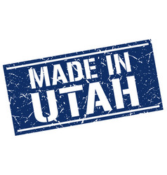 Made in utah stamp vector