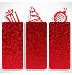 merry christmas small banner vector image