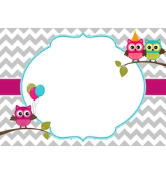 Owls Card vector