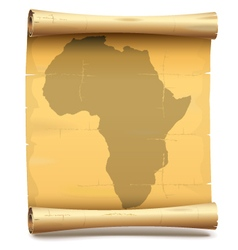 Paper Scroll with Africa vector