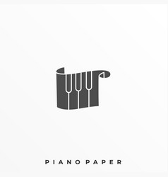 piano scale template vector image