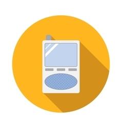 Radio baby monitor icon flat style vector