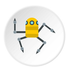Robot spider icon circle vector