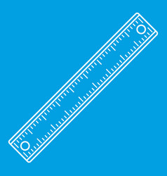 Ruler rectangular shape icon outline style vector