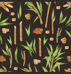 seamless pattern with heaps and cubes brown vector image