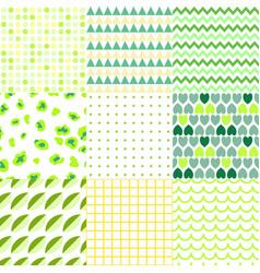 set colorful elegant seamless patterns vector image