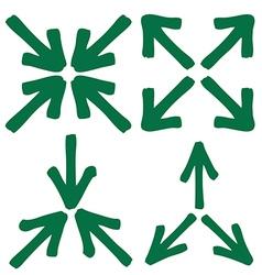 Set of arrow 3 1 vector