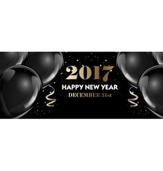 Set of luxury Christmas New Year banner templates vector image