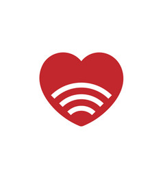 signal love icon vector image