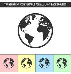 simple outline transparent planet earth symbol vector image