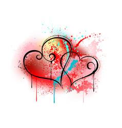 Sloppy heart drawing vector