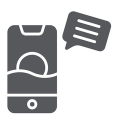 sms glyph icon mail and phone message on vector image
