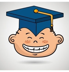 Student graduation cap icon vector