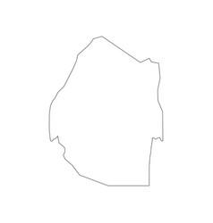 Swaziland map outline vector