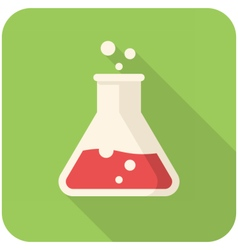 Test tube icon vector image vector image
