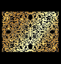 Vintage art deco gold luxury floral pattern vector