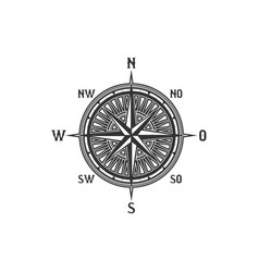 Vintage compass symbol and sign vector