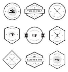Vintage Tailor Shop Badges vector image