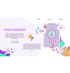 Voice assistant client for mobile on android vector
