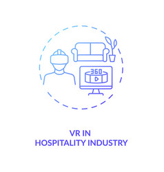 Vr in hospitality industry concept icon vector