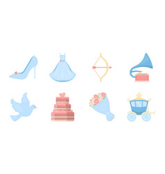 wedding and attributes icons in set collection for vector image