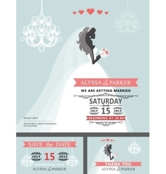 Wedding Bridal shower invitationCartoon bride vector