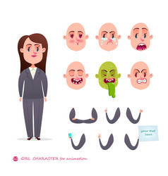 woman emotion faces emoji face icons vector image