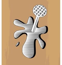 Woodcut nail vector image