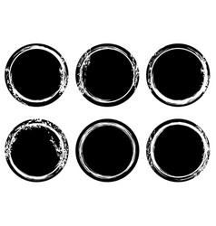 black and white grunge stamp insignia round vector image