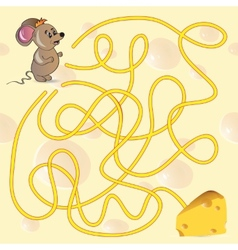 Cute Mouses Maze Game vector image vector image