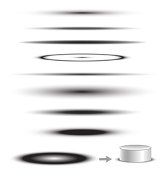 Object Shadow Collection vector image vector image