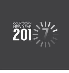 2017 Countdown Loading vector image